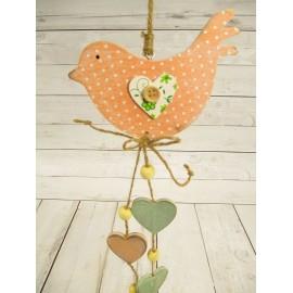 Ptaszek zawieszka dekoracyjna 40 cm z DREWNA
