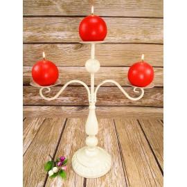 Świecznik RUSTYKALNY , styl prowansalski 45 cm