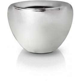Osłonka, doniczka ceramiczna CHROM 14 cm