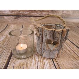 Lampion na świece z grubym szkłem 10 cm