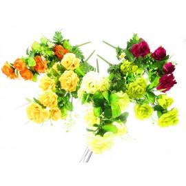 Bukiety sztucznych róż: 24 gałązek, 70 cm., mix kolorów