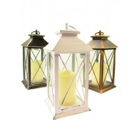Lampiony, latarenki ze świecą led, 30cm mix kolorów