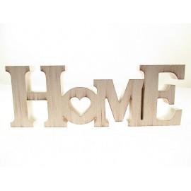 HOME napis z drewna 10cm x 28cm