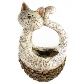 Osłonka na Doniczkę Kot na Zewnątrz i Wewnątrz Duża