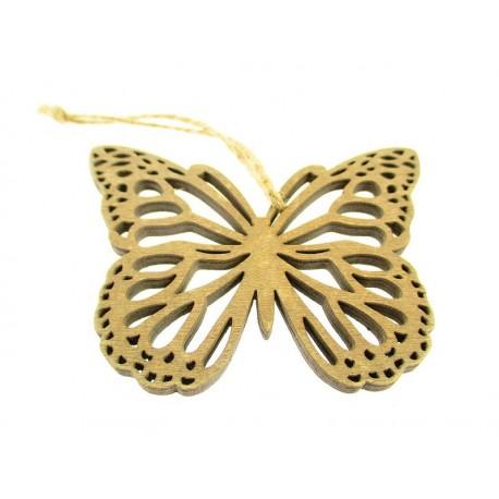 Motylek z Drewna Ażurowa Zawieszka