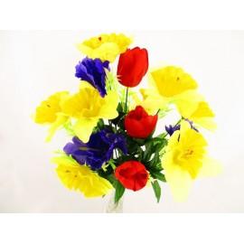 Żonkil,tulipan,irys bukiet 50 cm, mix  kolorów