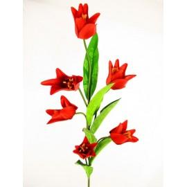 Gałązka tulipanów 97 cm mix kolorów