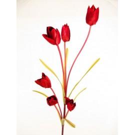 Gałązka tulipanów 92 cm mix kolorów