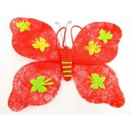 Motyl z sizalu naramienny 40 cm mix kolorów