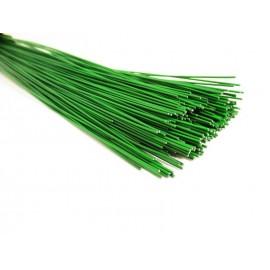 Drut florystyczny zielony do kwiatów 1,2 mm, dł. 42 cm