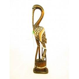 Żuraw dekoracyjny z drewna egzotycznego  63cm.
