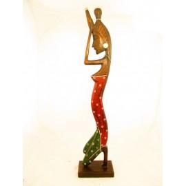 Figurka dekoracyjna z drewna egzotycznego  100cm.