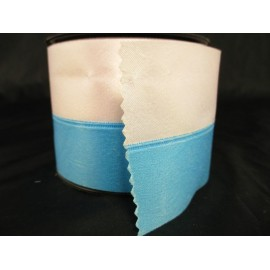 Wstążka biało niebieska atłasowa 8 cm