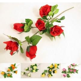 Róża na gałązce, 94 cm, 5 kolorów