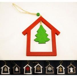 Ozdoba świąteczna zawieszka na choinkę 12 cm