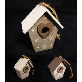 Ozdoba Świąteczna domek na choinkę 6,5cm WYPRZEDAŻ