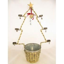 Świecznik z osłonką - choinka 70 cm
