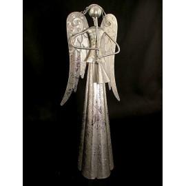 Aniołek, figurka z blachy stalowej 35 cm
