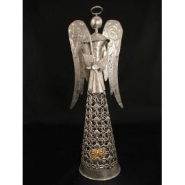 Aniołek, świecznik na tealighty z blachy stalowej 33 cm