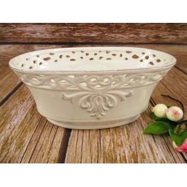 Osłonka, doniczka ceramiczna z MOTYWEM prowansalskim 22 cm x 9 cm