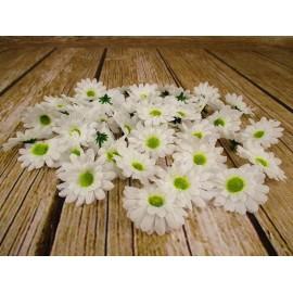 Margaretki sztuczne białe, główka kwiatowa kpl. 60 szt.