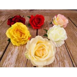 Róża główka kwiatowa 8cm x 10cm mix kolorów