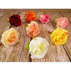 Róża pąk główka kwiatowa 7cm x 8cm mix kolorów