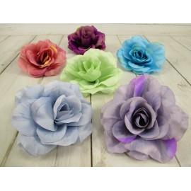 Róża rozwinięta główka kwiatowa 13cm mix kolorów