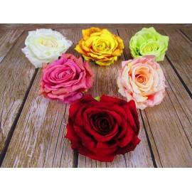 Róża rozwinięta główka kwiatowa Duża 15cm mix kolorów