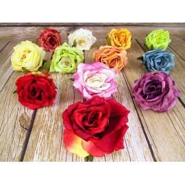 Róża rozwinięta główka kwiatowa Duża 15 cm mix kolorów
