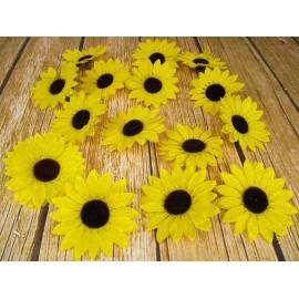 Słoneczniki główki kwiatowe 10cm w kpl. 24 szt.
