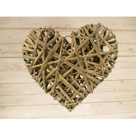 Serce rattanowe z rattanu 14cm dekoracyjne